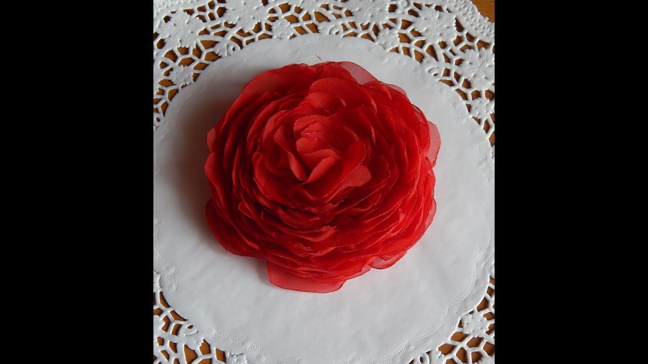 Как сделать розы из шифона своими руками
