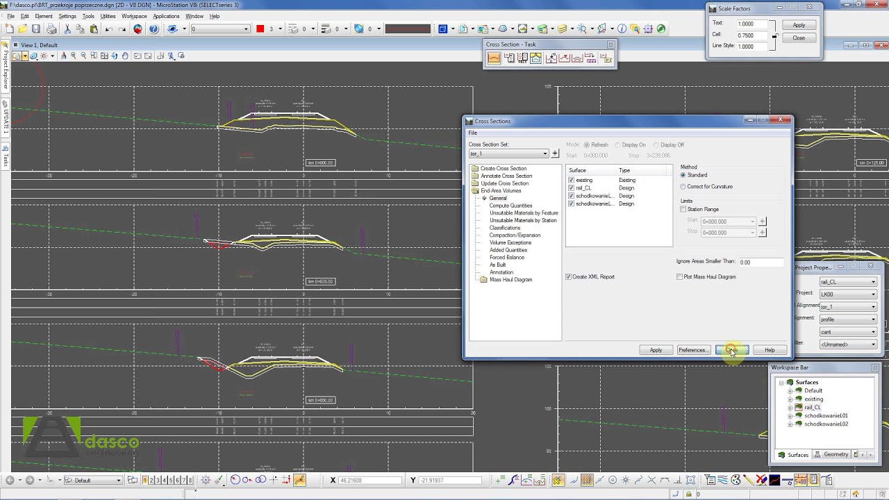 Bentley 3d Model >> Bentley Rail Track - Cross sections and the 3D model for construction - YouTube