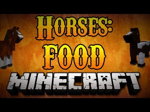 Minecraft Horses - What to feed Minecraft Horses (HOW TO HEAL) 1.7.2