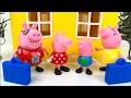 DE VACACIONES CON PEPPA PIG GEORGE PIG MAMA Y PAPA PIG - VIAJE A ITALIA Y PEPPA PIG SUNSHINE VILLA
