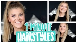 3 EASY 1 MINUTE HAIRSTYLES | COCO