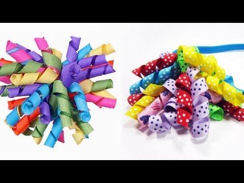 Episodio 530- Cómo hacer moños con banda para el pelo con cintas ...