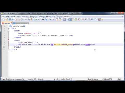 HTML5 and CSS3 beginners tutorial 6   linking to another page