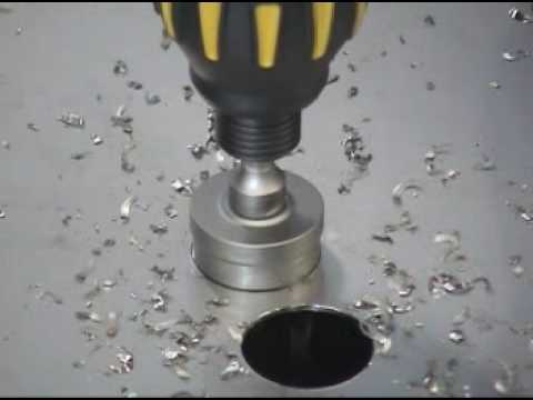 Ct3 Carbide Tipped Hole Cutter Youtube