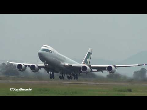 Cathay Pacific Cargo Boeing 747-8F Take off