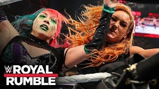 Becky Lynch brutally slams Asuka off the apron: Royal Rumble 2020 (WWE Network Exclusive)