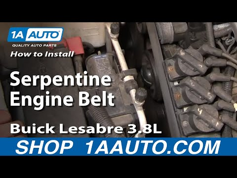 How To Install Repair Replace Serpentine Engine Belt Buick Lesabre 3 ...