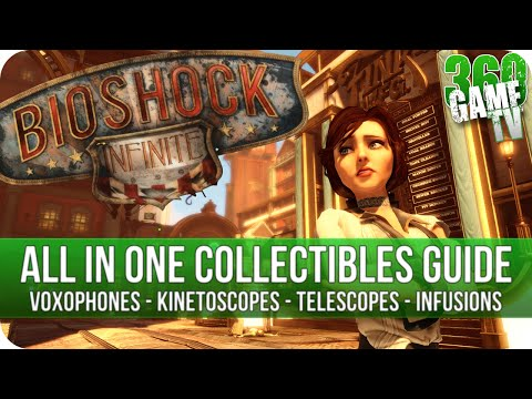 Bioshock Infinite - All Collectibles Guide - Voxophones - Kinetoscopes & Telescopes - Infusions