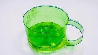 Reuse plastic bottle making tea cup | Best life hacks at home new video