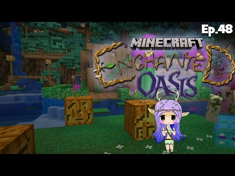 pumpkin Carving Minecraft Enchanted Oasis Ep 48 video