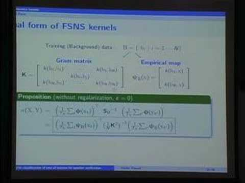 On Sequence Kernels for SVM classification of sets of...