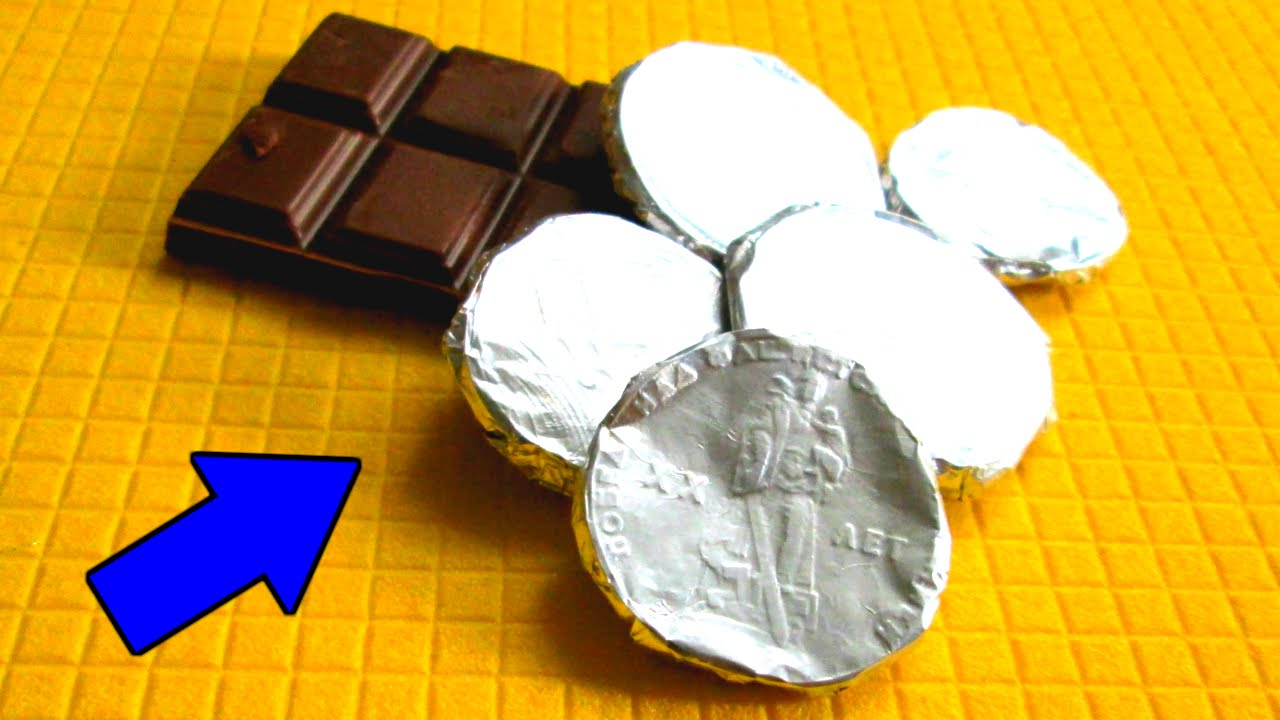 Шоколадные монетки своими руками
