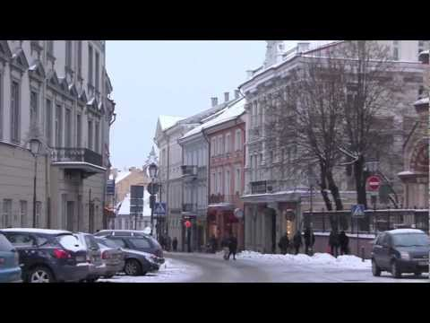 The City of Vilnius, Lithuania - 20th January, 2013