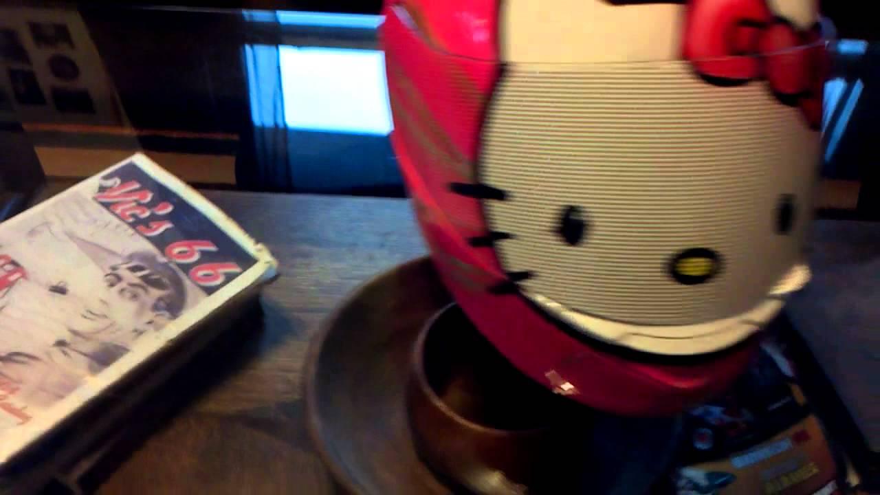 Hello Kitty Motorcycle Helmet For Adults Painted Hello Kitty Helmet