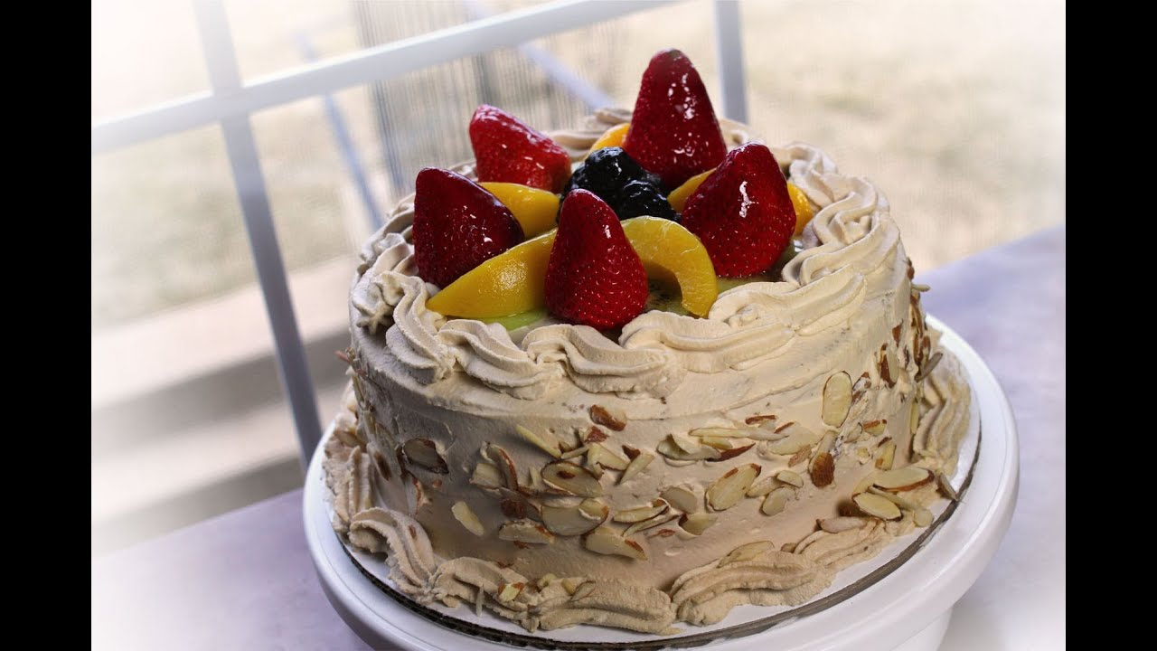 ... Fruit Top Coffee Birthday Cake for my friends bday :) - YouTube