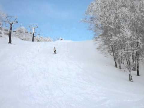 スノーボード キッカー...からの、NEW技(笑) in蔵王温泉スキー場