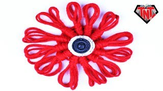 Easy To Make Awesome Woolen Flower Tutorial   Handcraft Wool Yarn Craft