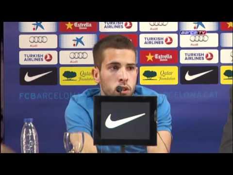 First Press Conference |  Primera conferencia de prensa | Jordi Alba | FC Barcelona | 2012