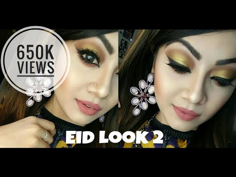 Eid Makeup: Glamorous Makeup Tutorial - Gold Bronze Eyes