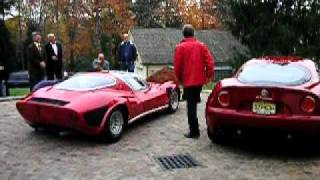 Sound-off battle between Alfa Romeo 8C Competizione and the legendary 33 Stradale
