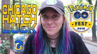 POKEMON GO FEST LUCK HELPED ME HATCH THIS! + CITY TOUR