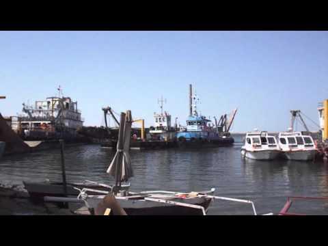 Abudhabi musaffah port, Drill Ship sailing,Fujifilm s4600 video sample