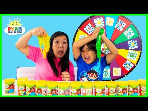 3 Color Slime Challenge Mystery Wheel!!!!