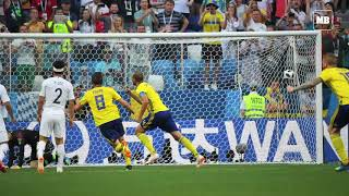 Sweden beat South Korea 1-0 with VAR penalty
