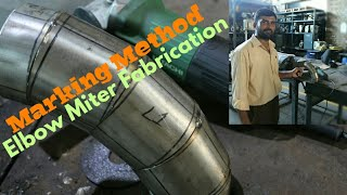 how to make pipe elbow/ pipe elbow cutting formula/pipe miter template/miter elbow (Hindi) (Urdu)