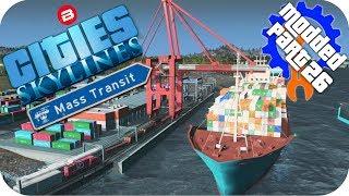 Cities Skylines Gameplay: CARGO/TRAIN/SHIP HUB!! Cities: Skylines Mods MASS TRANSIT DLC Part 26