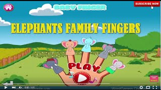 Elephant Family Daddy Fingers Nursery Rhyme   School and Kindergarten Songs for Children