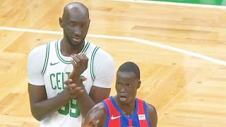 Tacko Fall Shocks Celtics Crowd As A Giant In NBA Return & Gets Standing Ovation! Celtics vs Pistons