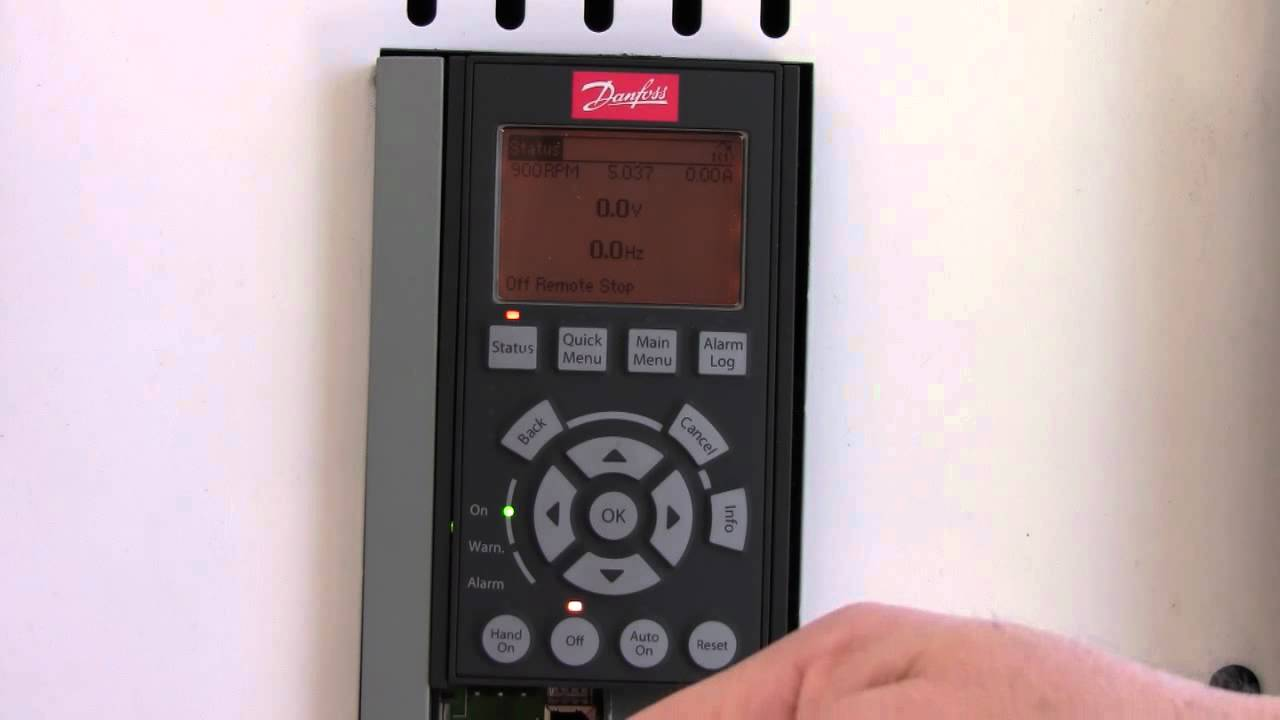 Vfd Training Danfoss Fc102 Vfd Nha Tutorial Variable