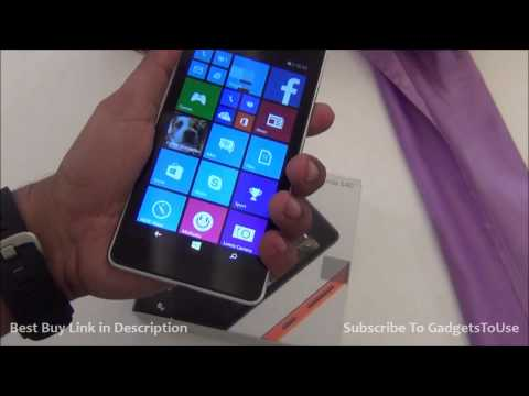 Microsoft Lumia 540 Unboxing, Hands on Review, Camera, Features, Comparison with Lumia 640