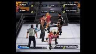 Undertaker & Kane vs Dudley Boyz vs Edge & Christian (Ladder match) - WWE Smackdown SYM [PS2]