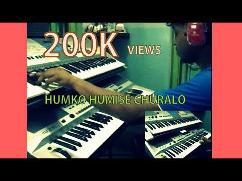 Humko Humise Churalo-mohabbatein indian Instrumental on keyboard...