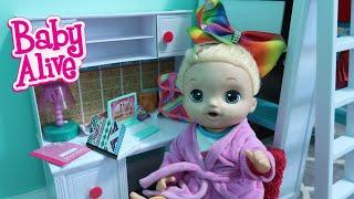 BABY ALIVE Lulus After School Routine homework dinner baby alive videos