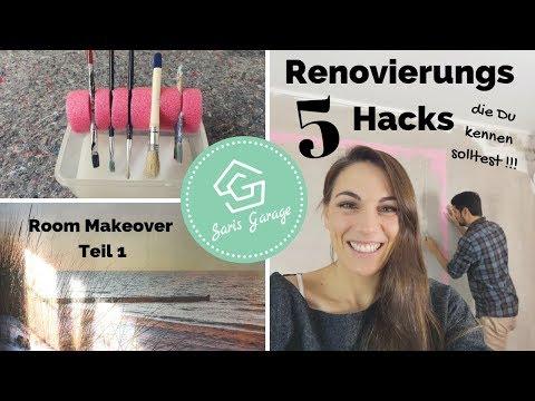 Schlafzimmer DIY - Renovieren Hacks - Room Makeover - Upcycling - Teil 1/2