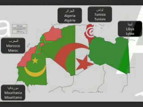 Carte Nord Afrique - خريطة لشمال إفريقيا - Map of North Africa