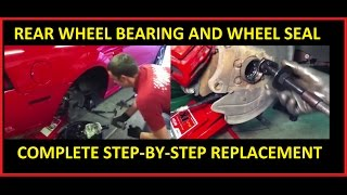 Rear axle shaft, wheel bearing, and seal replacement: FORD Mustang Explorer F-150 Crown Victoria