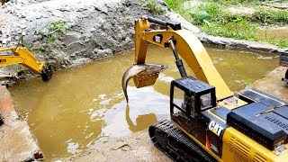 Kids cartoon | Swimming Fish | Excavator working in water