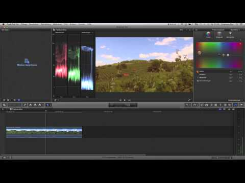 Final Cut Pro X Farbkorrektur Tutorial Color Correction
