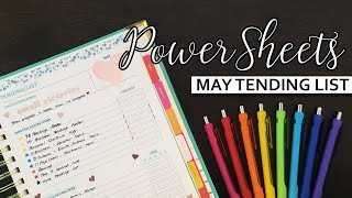 PowerSheets | May Tending List + April Check-in