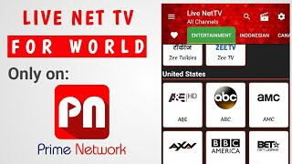 Best Android Tv App Best For Cricket, Football, Hockey Matches, Movies Live Net Tv | Prime Network