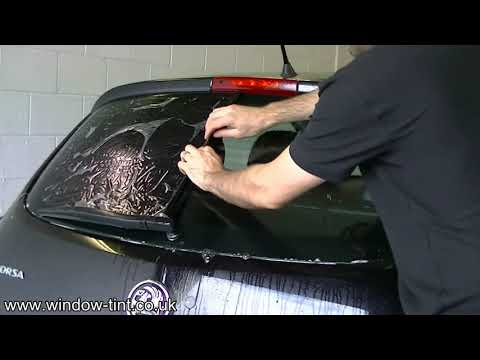 How to install pre-shrunk window tint: Reverse roll method