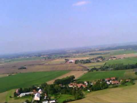 záběry z letadla