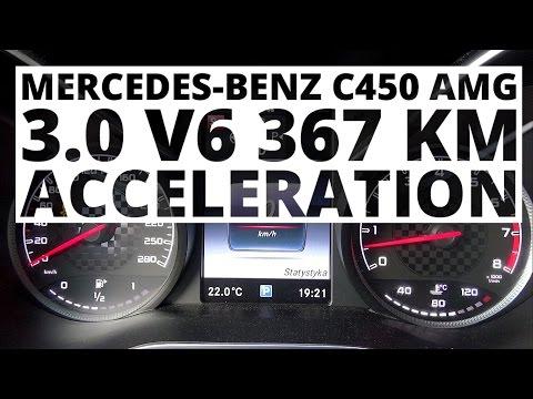 Mercedes-Benz C-Klass 450 AMG 3.0 V6 367 hp (AT) - acceleration 0-100 km/h