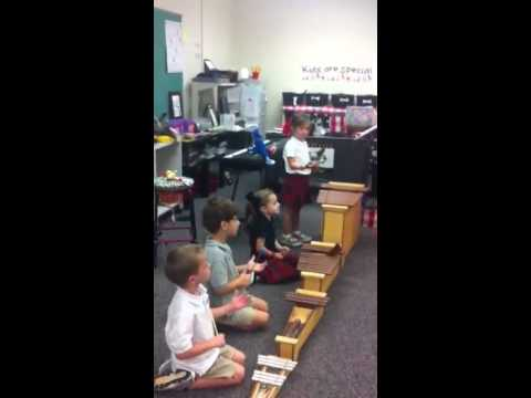K5 music class at George Walton Academy - 09/17/2014