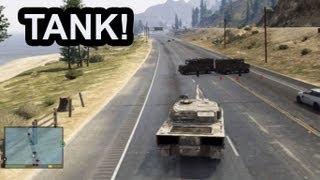 GTA 5: Army Tank Rampage