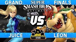 Smash Ultimate Tournament Grand Finals - Juice (Zero Suit Samus) vs LeoN (Bowser) - CNB 173